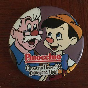 1993 Disneyland Character Dining Pin - 101 $8 FIRM